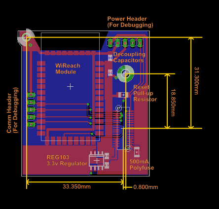 Initial Design of Internal WiReach WiFi Board